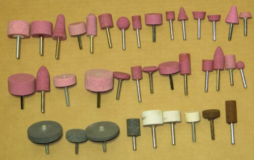 37 Piece Set Wheel Mounted Shank Abrasive Grinding Stone Rotary File Corundum