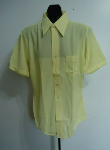 NOS VTG mens dress SHIRT 70s ARROW polyester knit