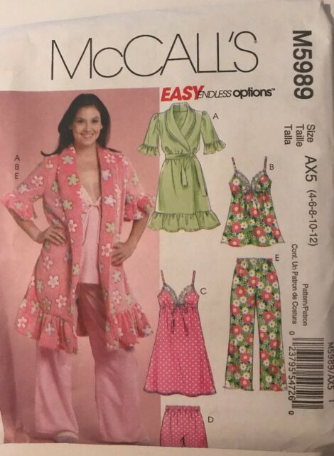c83a822f4678 Buy Mccall's M5989 DD Sewing Pattern Easy Misses' Robe Top Nightgown ...