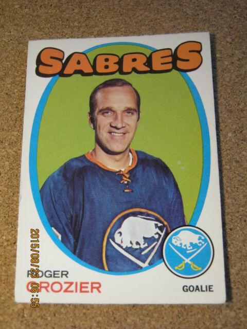 1971 72 OPC O Pee Chee # 36 Roger Crozier - Buffalo Sabres                     B