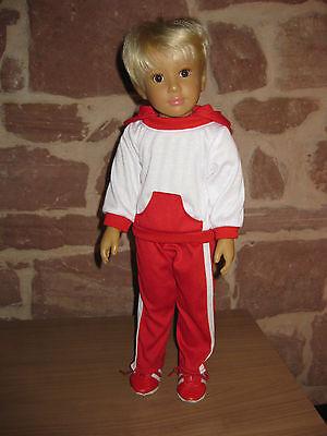 2-tlg Turnanzug, Puppenkleidung, 46cm Steh Puppe, ohne Kidz`n Cats Puppe, 1230