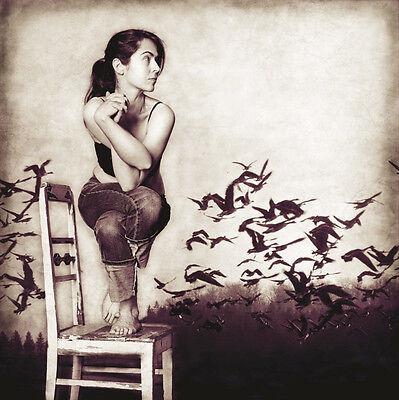 yoga art print  garudasanagosia janik 12x12 girl pose