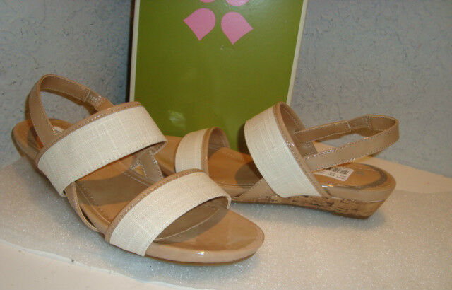 Naturalizer N5 Damenschuhe NWB Frazzle WEISS Sand Wedge Sandales Schuhes 5.5 MED NEU