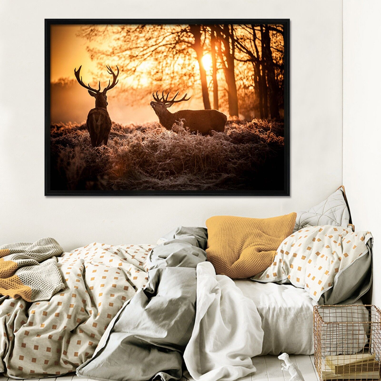 3D Woods Deer 46 Framed Poster Home Decor Print Painting Art AJ WALLPAPER UK