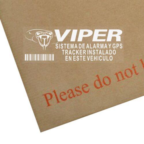 5 x Viper Sistema de Alarma y GPS Tracker Instalado en este Vehiculo-Etiqueta de