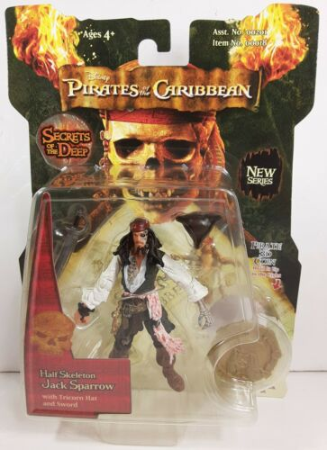 Pirates of the Caribbean moitié squelette Jack Sparrow Action Figure zizzle 3d Coin