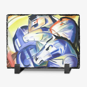 Franz-Marc-Four-Blue-Horses-Rock-Slate-Picture-Frame-20x15-cm