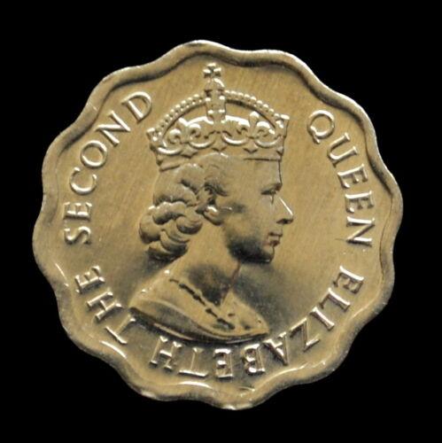 Random age km33a Wreaths UNC coin Belize 1 Cent Queens