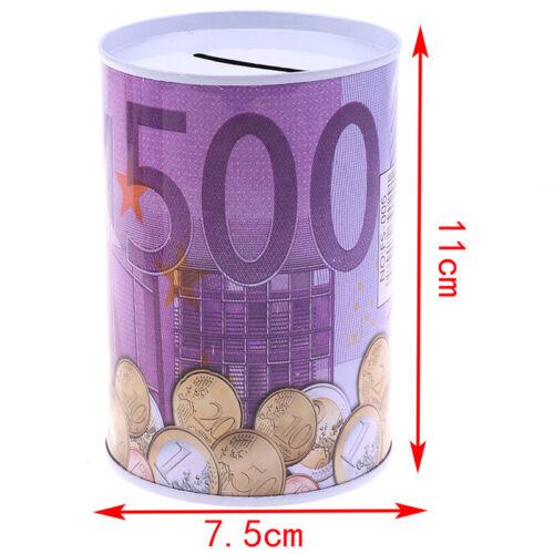 1pc Euro Dollar Money Box Safe Cylinder Piggy Bank Banks For Coins Deposit Boxes