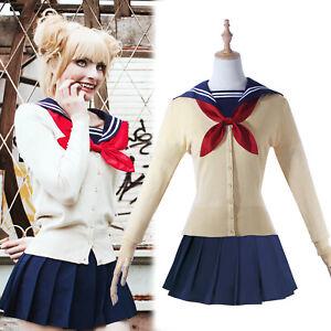 Bnha Himiko Toga Cosplay Costume Jk School Uniform Outfit Full Set Ebay