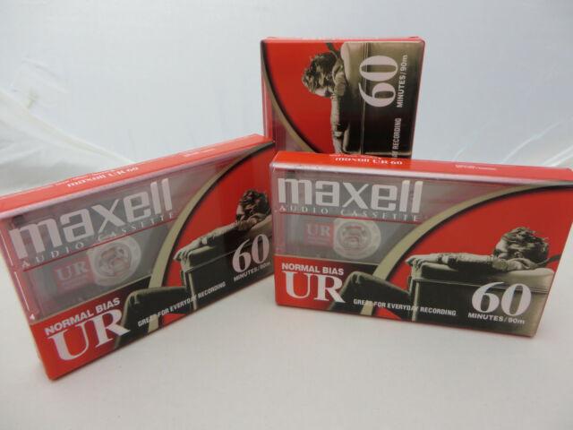 Sealed Maxell Audio Cassette UR 60 min Normal Bias Cassette Tape