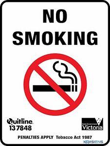 Sticker Premium Warning ALL SIZES Smoking No Smoking Sign Warning
