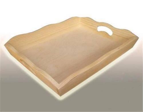 decorate me TFD Large Plain wood Tea or Meal Tray 37,5x27x6cm decoupage craft