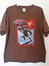 Mens The Legend of Zelda Twilight Princess Vintage Brown T-Shirt XL Video Game