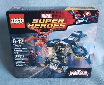 Lego 76036 Retired NISB Carnage/'s SHIELD Sky Attack Super Heroes