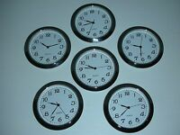 6 Pack, 2-1/8(55mm) Premium Quartz Clock Insert,silver Bezel,metal Case, Arabic
