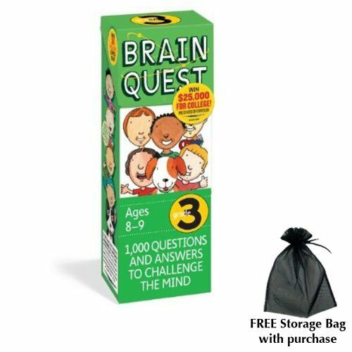 Brain Quest for Grade 3 with free storage bag by Workman Publishing