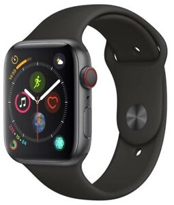 Reloj-de-Apple-serie-4-44-mm-Caja-Gris-Espacio-Con-Banda-Negra-Sport-Gps-Celular