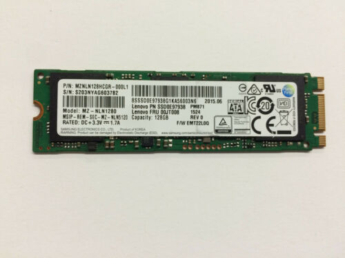 Samsung 128GB M.2 SSD MZNLN128HCGR Lenovo P//N:00JT008 MZ-NLN1280 Tested Grade A