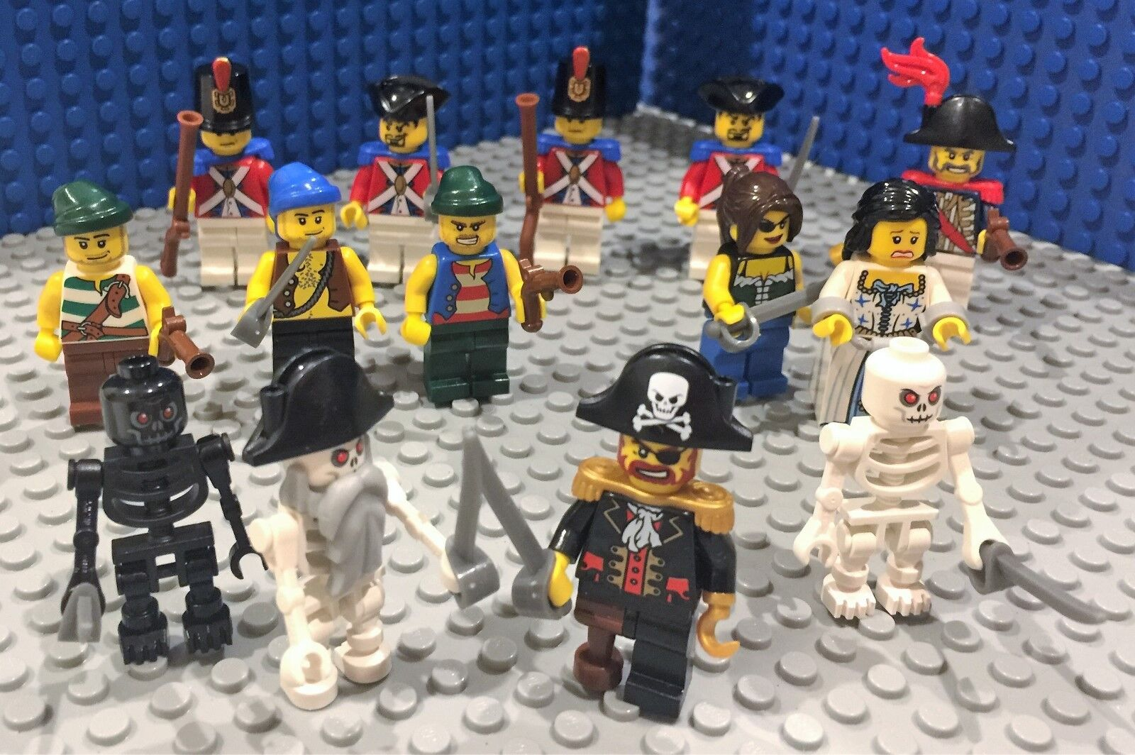 Lego Pirates Army  Soldier Minifigs Admiral Captain
