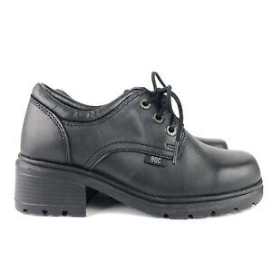 ROC-Shoes-039-Caper-Women-s-Size-UK-5-5-Black-Leather-School-Shoe-Lace-Up-Boots