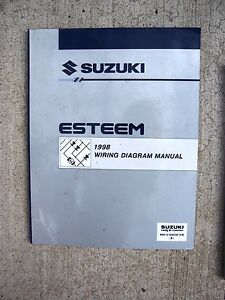 1998 suzuki esteem auto wiring diagram manual connectors ground rh ebay ie 1997 Suzuki Esteem 1998 Suzuki Esteem Specs