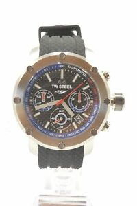 TW-Steel-TW924-Yamaha-Factory-Racing-Chronograph-Racing-Black-Silicone-Men-039-s