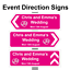 Personalised-Wedding-ring-Direction-Sign-Road-Sign-names-event-amp-date-Correx thumbnail 2