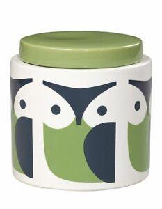Orla Kiely Owl Green Stoneware Storage