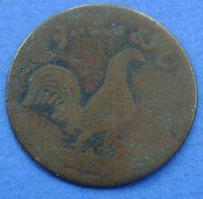 Nederlands Indie - 1 Keping 1804 Haantjesduit Malacca  Rooster. KM# 1