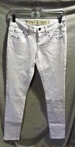 Bling Impressionante Jeans al Sz Skinny Gambe 3 Earl 179 con bianche dettaglio Nwots Super q0Bqf71c