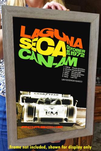 Laguna Seca Raceway 1972 Can-Am Advertising Poster