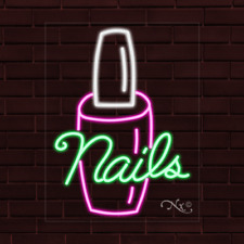 New Nails Withlogo 31x24x1 Inch Led Flex Indoor Sign 30346