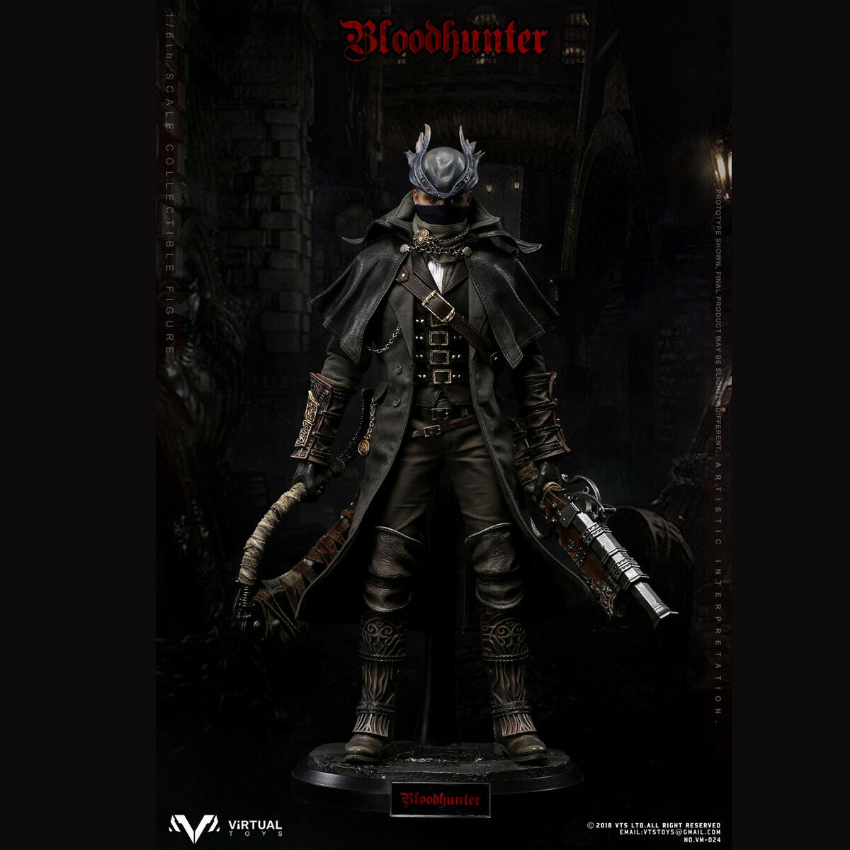 VTS TOYS 1/6th VM-024  Blood Hunter Movable Male Action Figure Collectible New