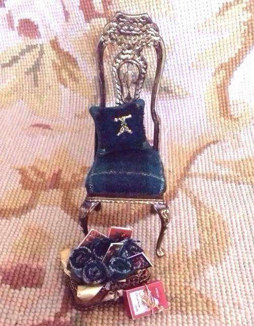 el precio más bajo Bespaq Pat Tyler casa de de de muñecas en miniatura a cuadros Silla Almohada Caja Asiento Chaise p256  el estilo clásico