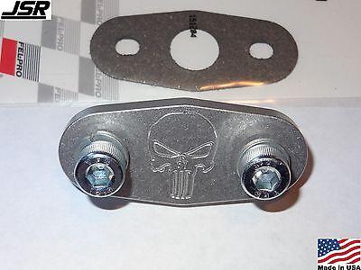 96-04 4.6 Mustang GT or Cobra Billet Aluminum EGR delete plate kit (With Skull)