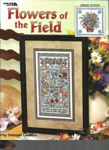 Flowers-of-the-Field-Leisure-Arts-3473-Pattern-for-Cross-Stitch-2003-Sampler