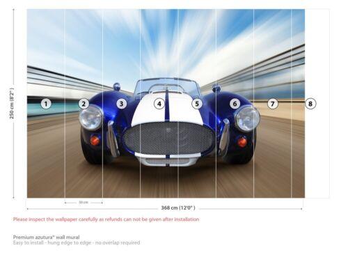 Classic Blue Sports Car Wall Mural Wallpaper WS-42784