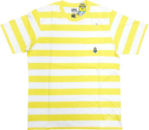 Minions Uniqlo Pocket T-Shirt Top Bello Summer Collection-Yellow & White-Size XL