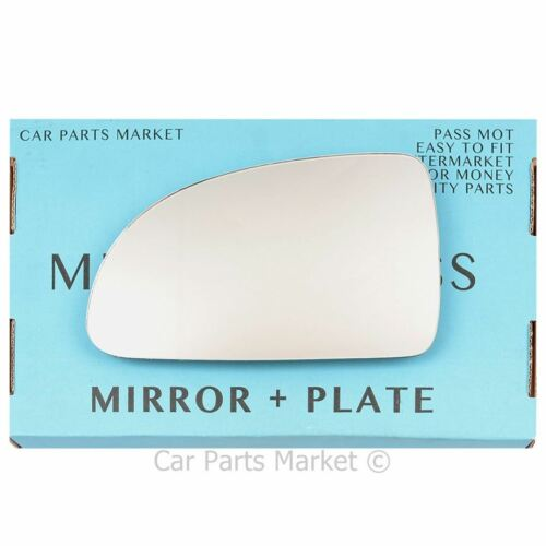 Left Passenger side Wing door mirror glass for Kia Rio 2003-2005 plate