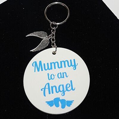 Personalised Memorial Ricordo Angel Baby Neonato Perdita Mummia Ad Un Angelo Portachiavi-mostra Il Titolo Originale