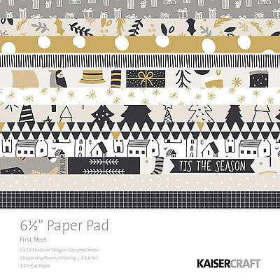"NEW Kaisercraft Paper Pad 6.5""x6.5"", First Noel, PP1053"