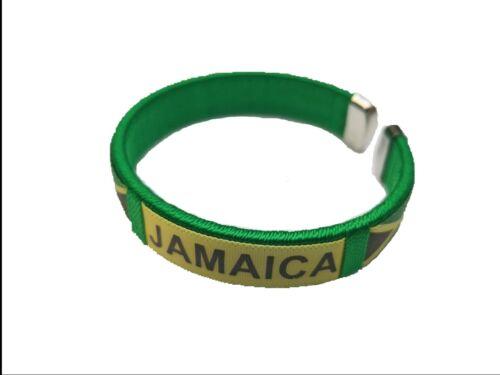 Jamaica Flag Reggae Bracelet Wrist Bracelet Cuff Jah Reggae Garvey jamaican