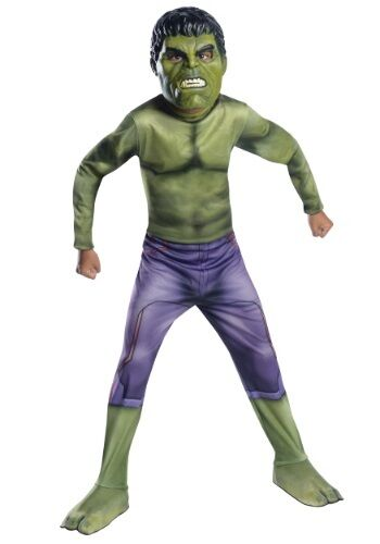 Boys Incredible Hulk Costume Halloween Outfit Boys Child Green Child S M L Kids