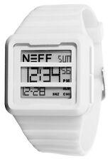 Neff Men's Odessy Watch White Digital Timepiece Streetwear