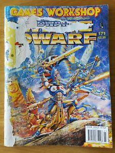 Bien Informé White Dwarf #171. Free P&p.-afficher Le Titre D'origine Art De La Broderie Traditionnelle Exquise
