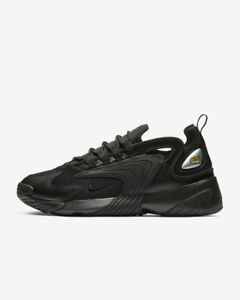 super popular 98e56 dde7f Image is loading NIKE-ZOOM-2K-AO0269-002-TRIPLE-BLACK-ANTHRACITE-