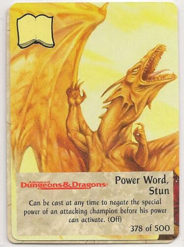 Spellfire 4th Edition Card M//NM 378//500 Power Word Stun