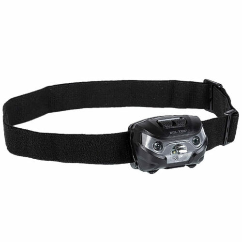 Red LED Light Headlamp Mil-Tec 200 LM Tactical Head Torch Military Army White