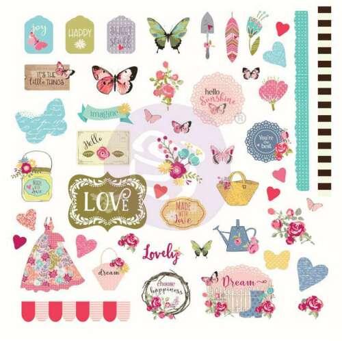 Butterfly Bliss Cardstock Ephemera 49//Pkg   655350913144
